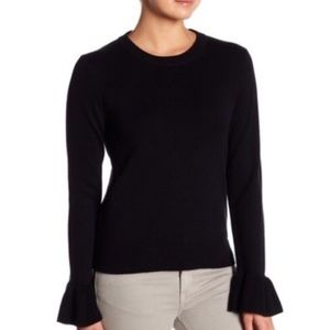 J. Crew Ruffle Cuff Sweater in Black